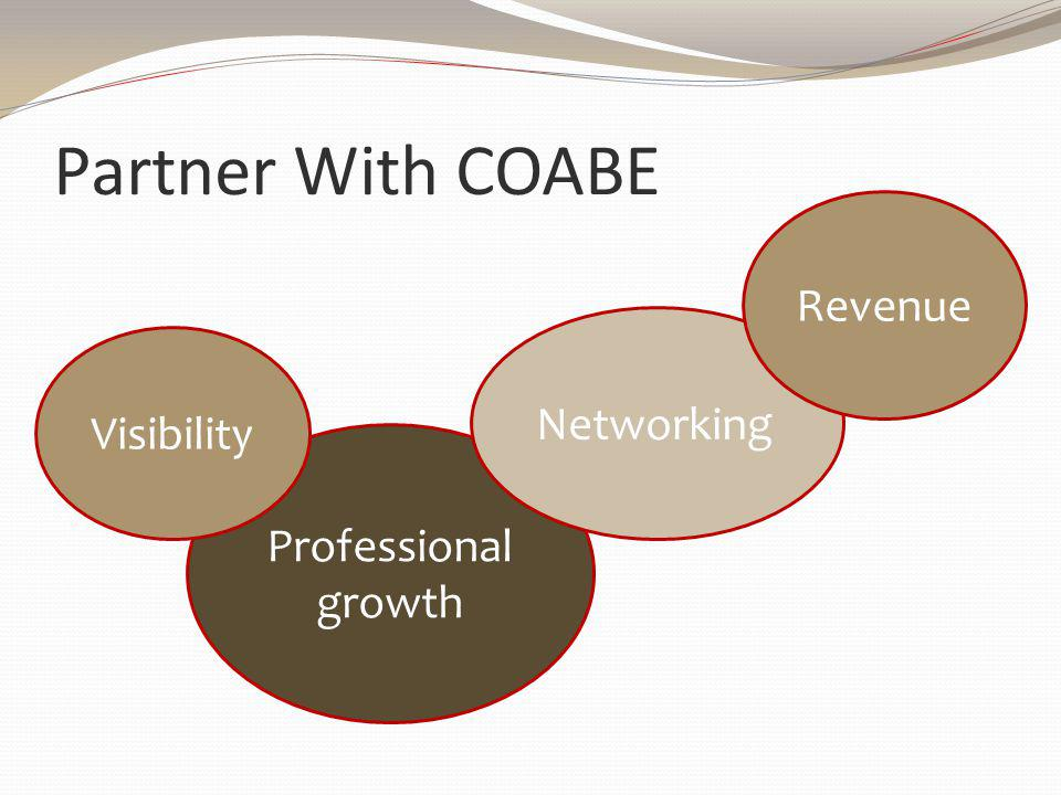 Professional growth Partner With COABE Visibility Networking Revenue