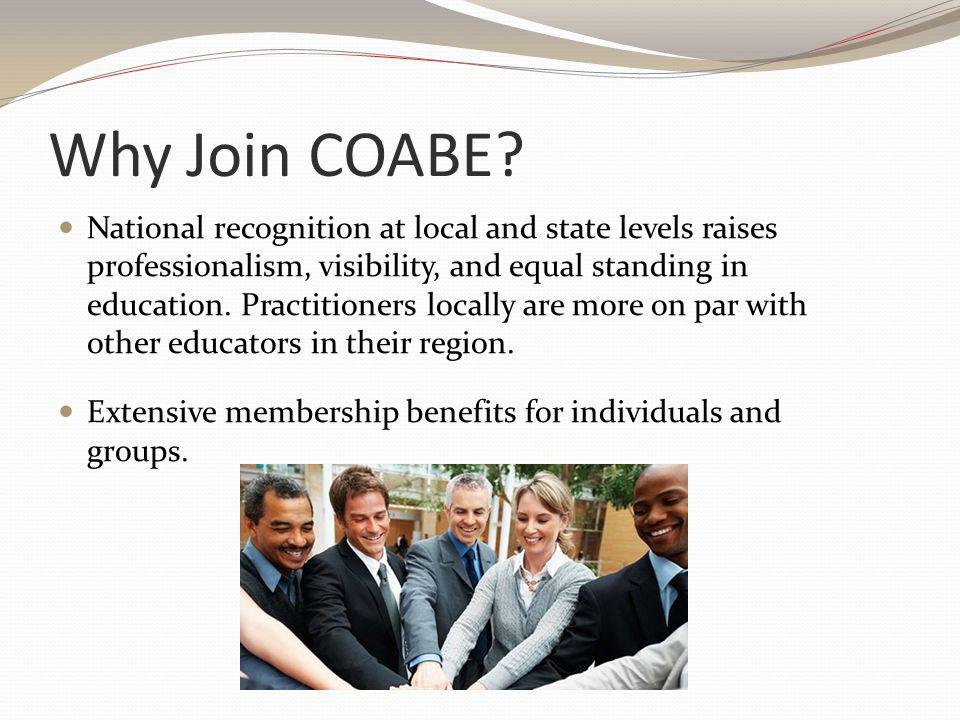 Why Join COABE.