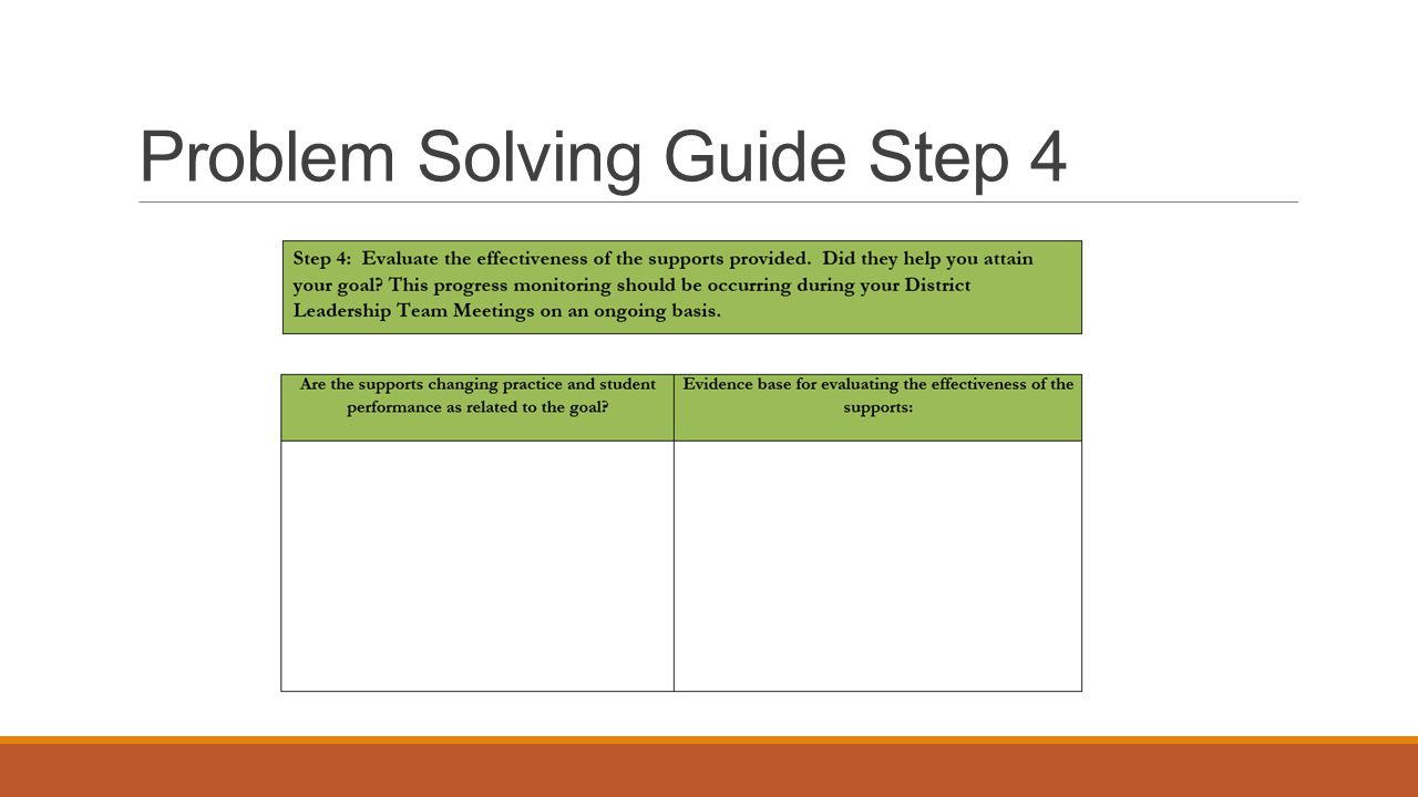 Problem Solving Guide Step 4