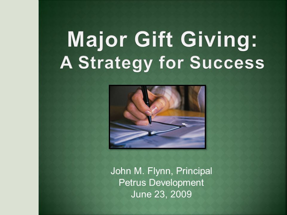 John M. Flynn, Principal Petrus Development June 23, 2009
