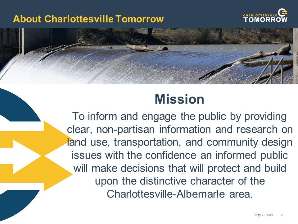 www.cvilletomorrow.org Charlottesville Tomorrow