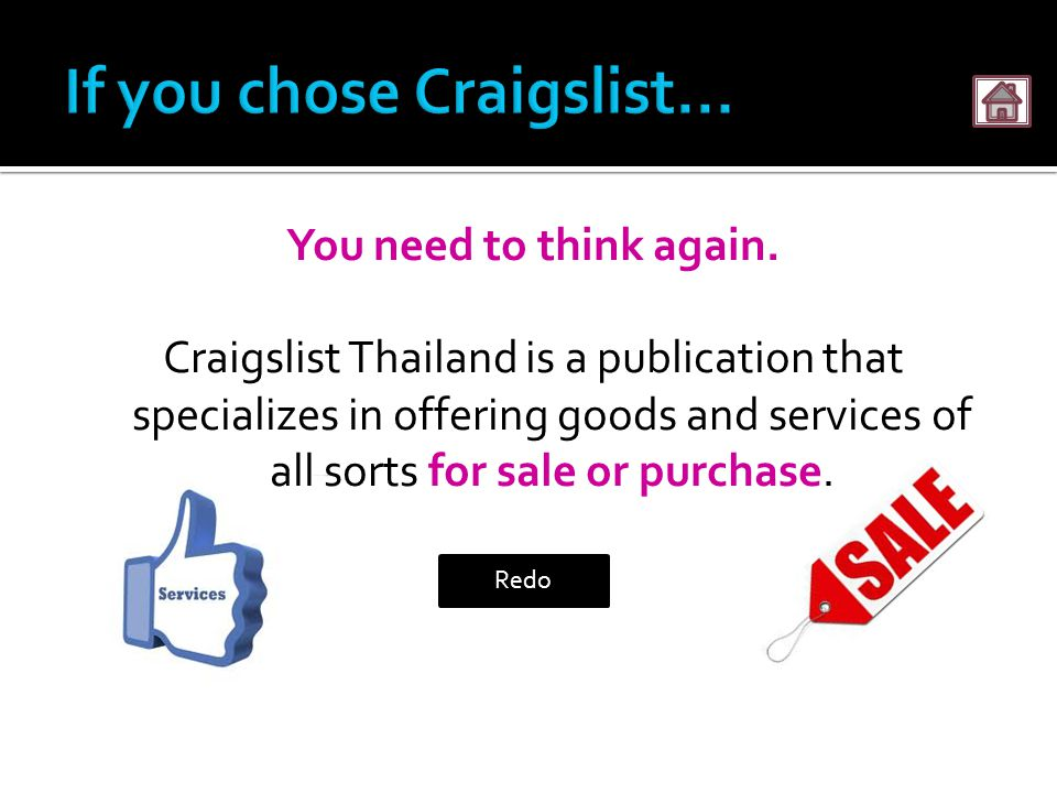 Explore a Craigslist For Sale Ad: Title is direct, by stating product, price and place.