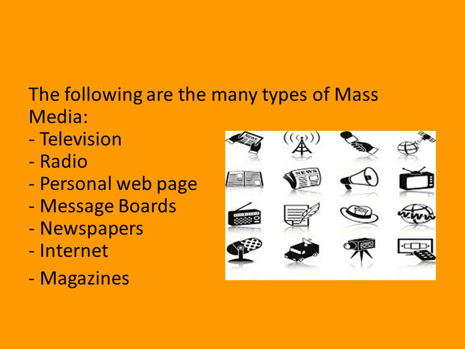 Mass communication Consists of messages that are transmitted in large quantities to several people at one time Transmitted through several sources: electronic, print, television, radio, magazines, etc.