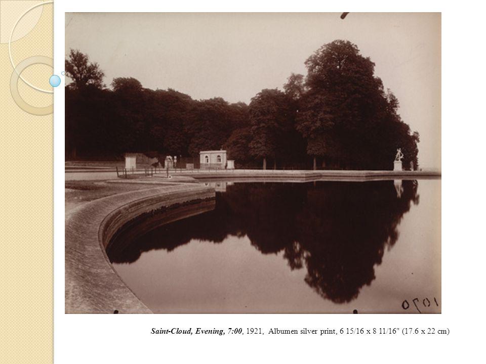 Saint-Cloud, Evening, 7:00, 1921, Albumen silver print, 6 15/16 x 8 11/16 (17.6 x 22 cm)