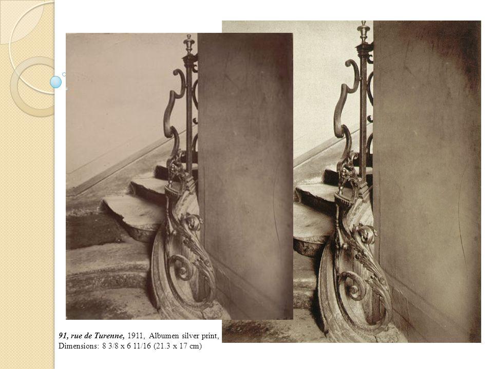 91, rue de Turenne, 1911, Albumen silver print, Dimensions: 8 3/8 x 6 11/16 (21.3 x 17 cm)