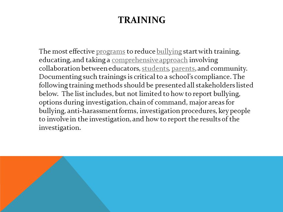 TRAINING PROCEDURES 1.Office of Student Services will train principals and Director of Transportation.