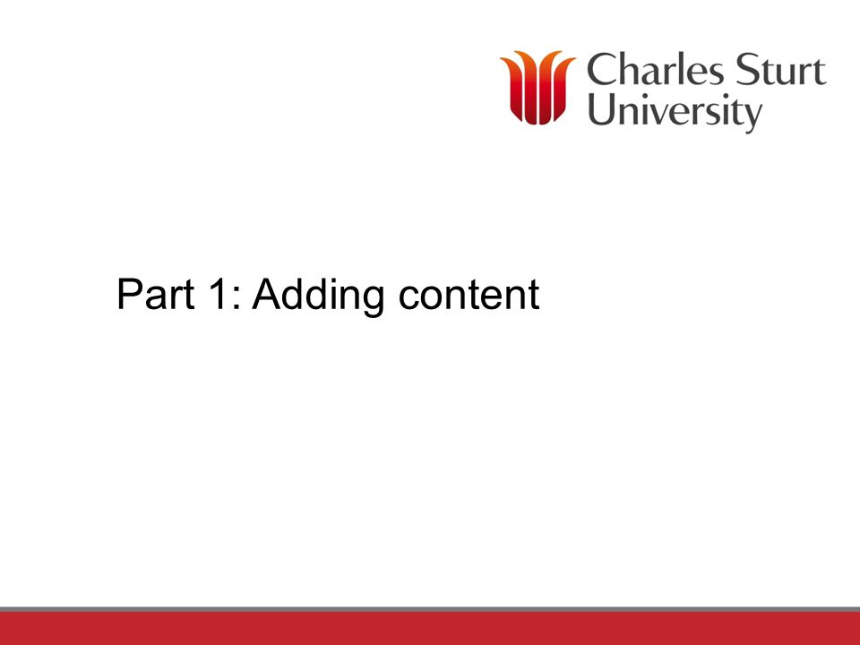 Part 1: Adding content
