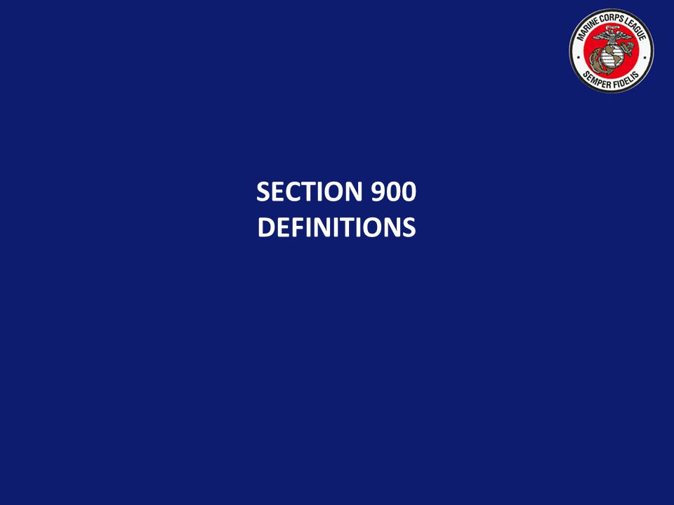 SECTION 900 DEFINITIONS