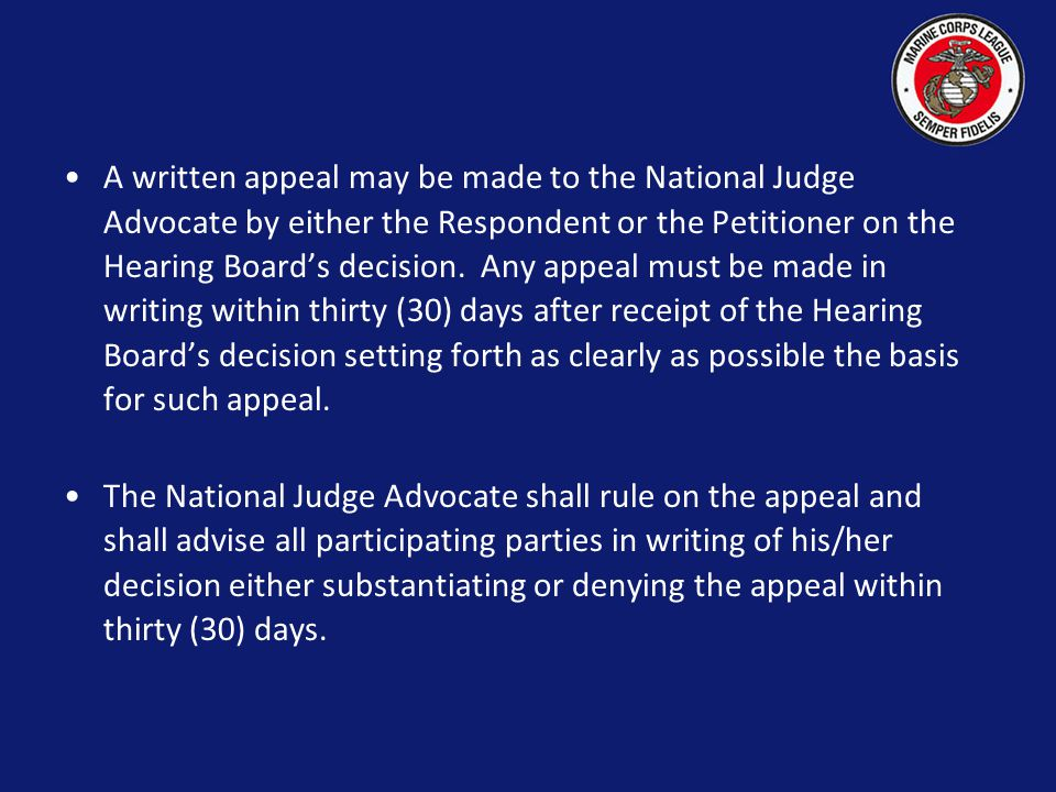 The decision by the Hearing Board shall be made in writing and must be affirmed by a majority of the Hearing Board.