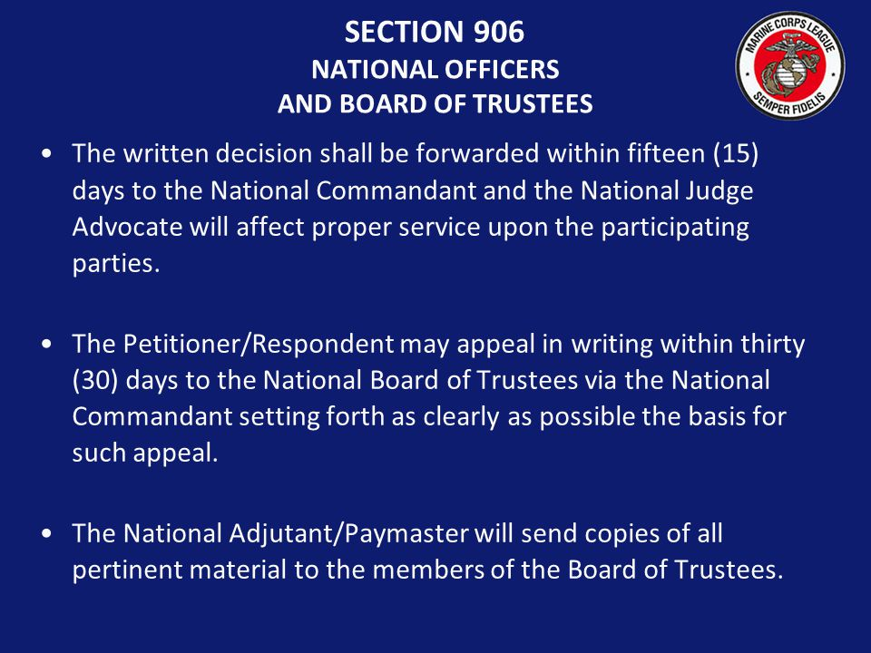 The decision handed down by the Hearing Board shall be in writing and must be affirmed by a majority of the Board.
