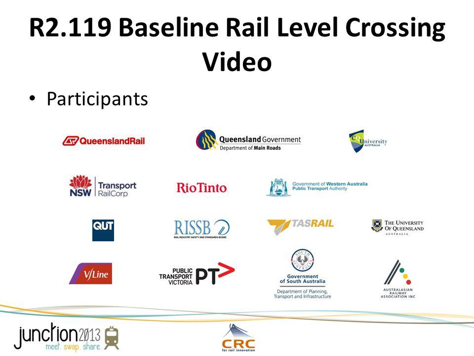 R2.119 Baseline Rail Level Crossing Video Participants