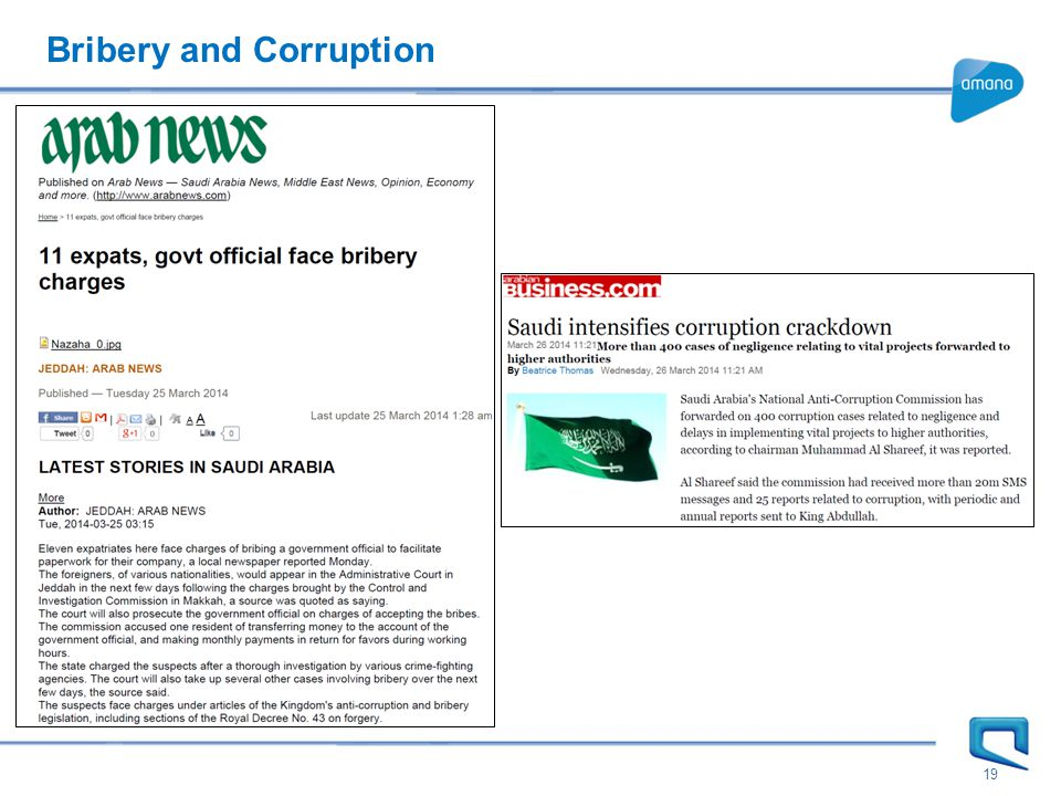 Bribery and Corruption 19
