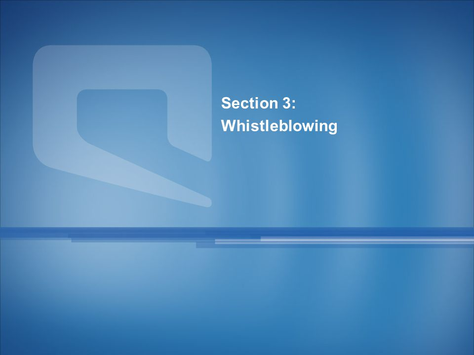 26 Section 3: Whistleblowing