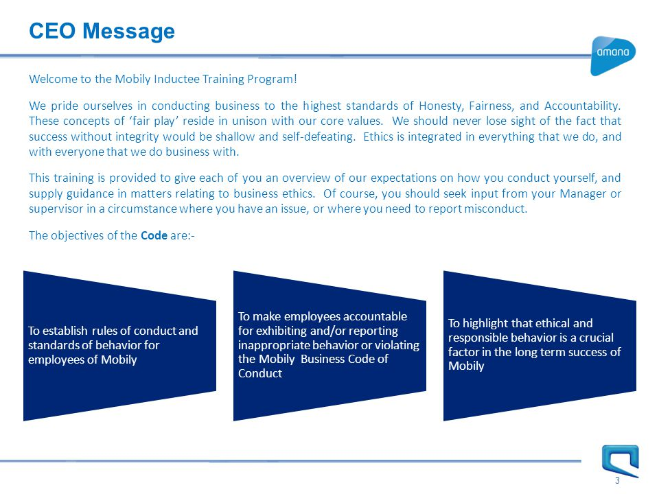 3 CEO Message Welcome to the Mobily Inductee Training Program.