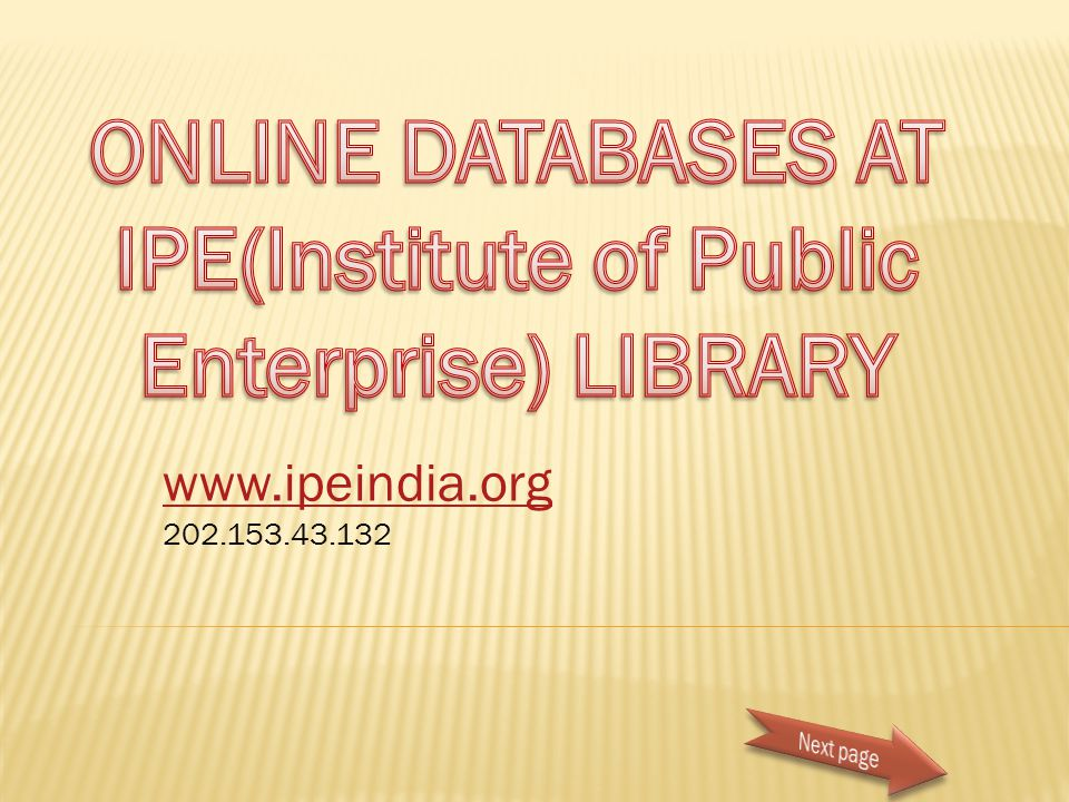 www.ipeindia.org 202.153.43.132