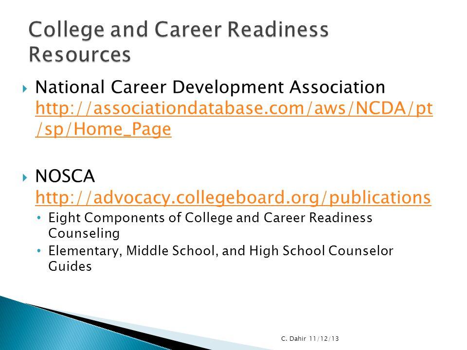  National Career Development Association http://associationdatabase.com/aws/NCDA/pt /sp/Home_Page http://associationdatabase.com/aws/NCDA/pt /sp/Home