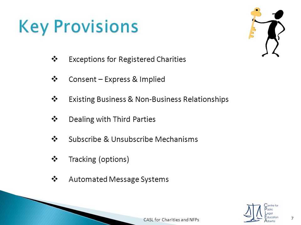 CASL for Charities and NFPs 8  What do the regulations say…..