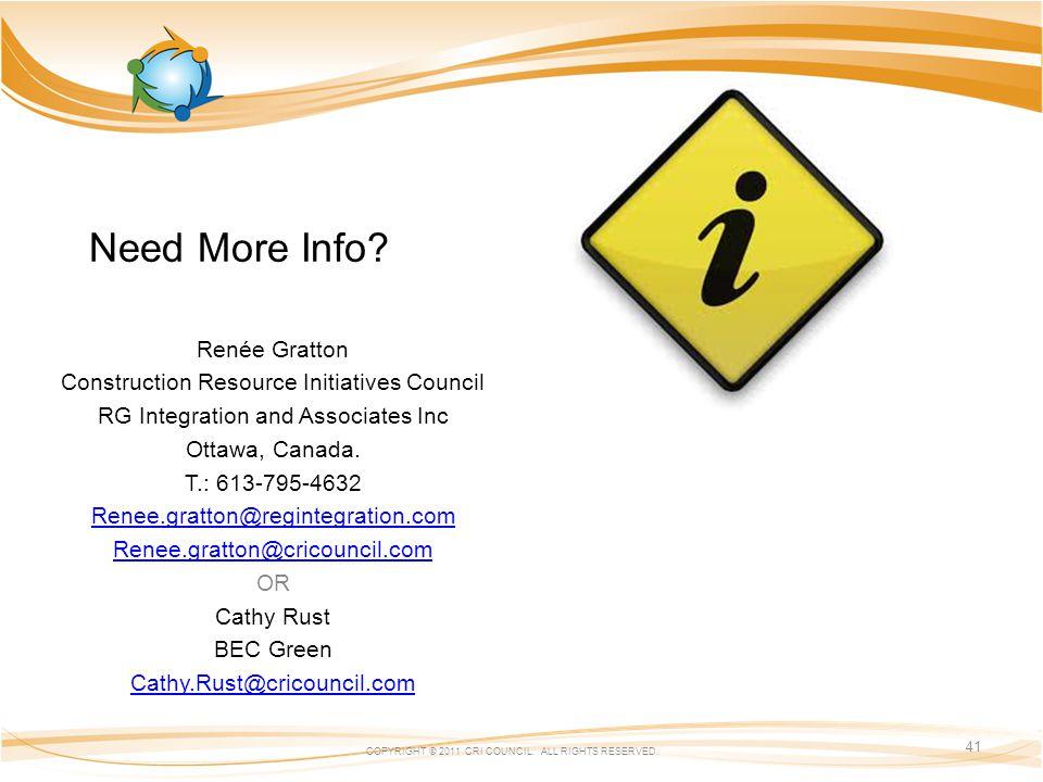 Renée Gratton Construction Resource Initiatives Council RG Integration and Associates Inc Ottawa, Canada.