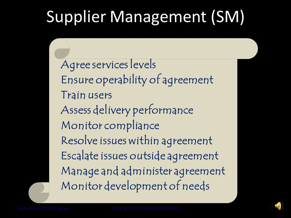 Performance Commitment Value is created during successful operation... Services easy to get Evolve with business need Risk actively managed Continuous