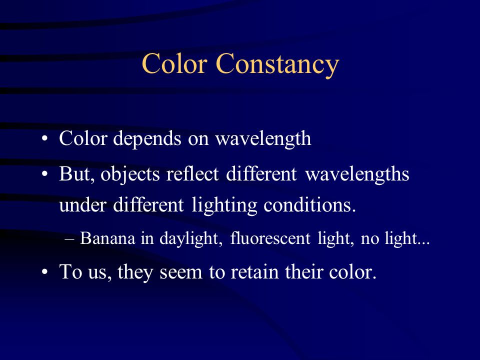 How is this possible.There is more to color than wavelength.