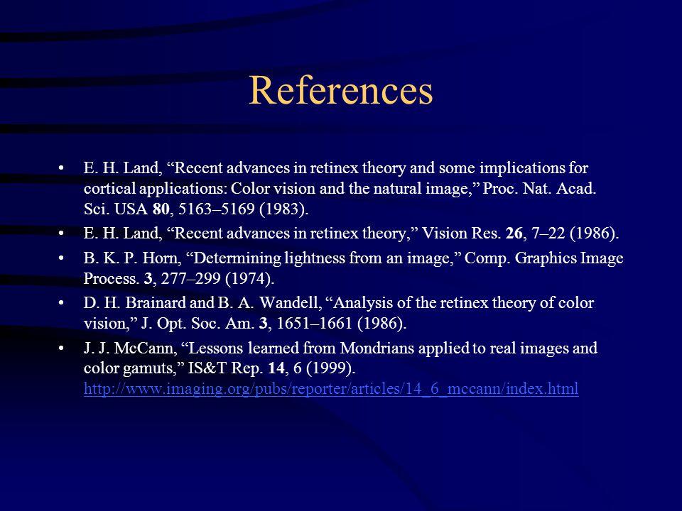 References E. H.