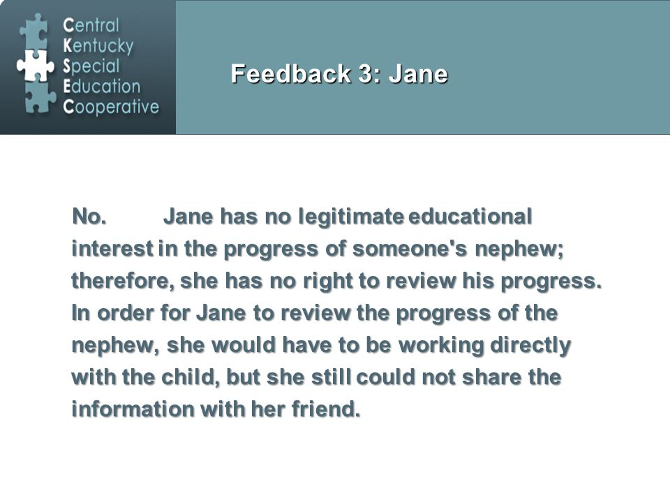 Feedback 3: Jane No.