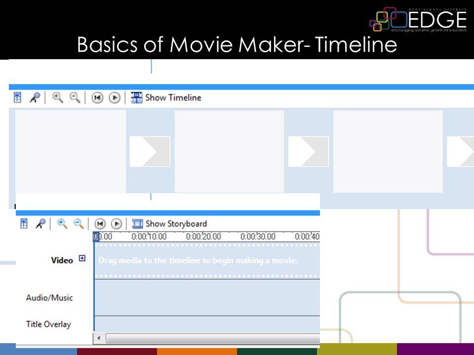 Basics of Movie Maker- Timeline
