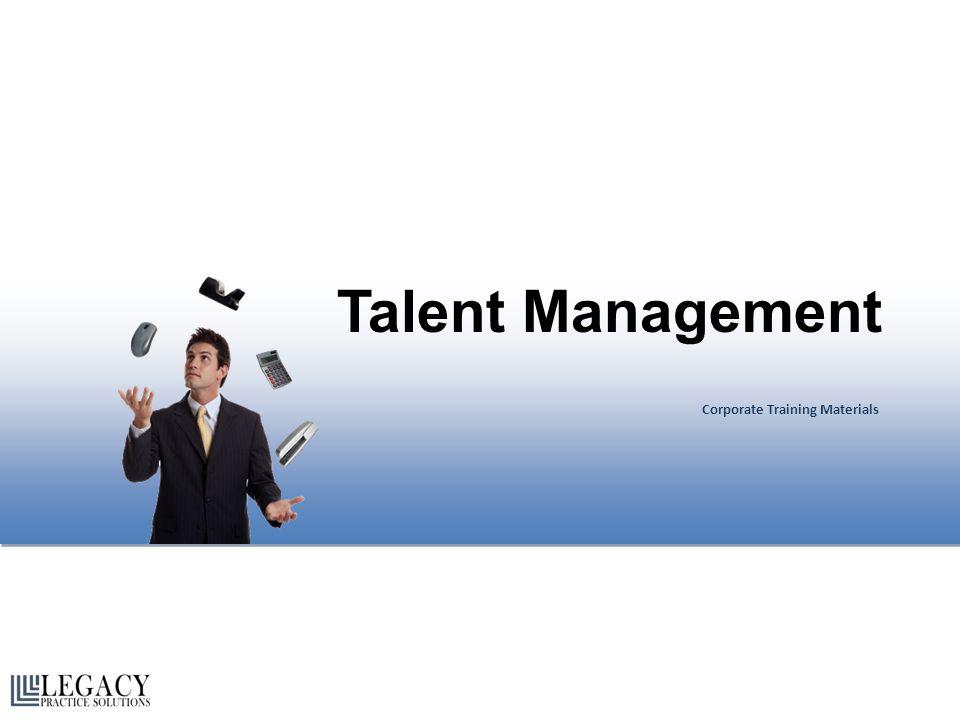 Talent Management Corporate Training Materials Talent Management Corporate Training Materials