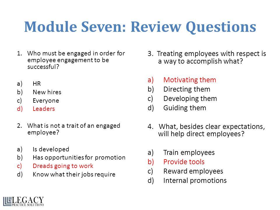 Module Seven: Review Questions 1.
