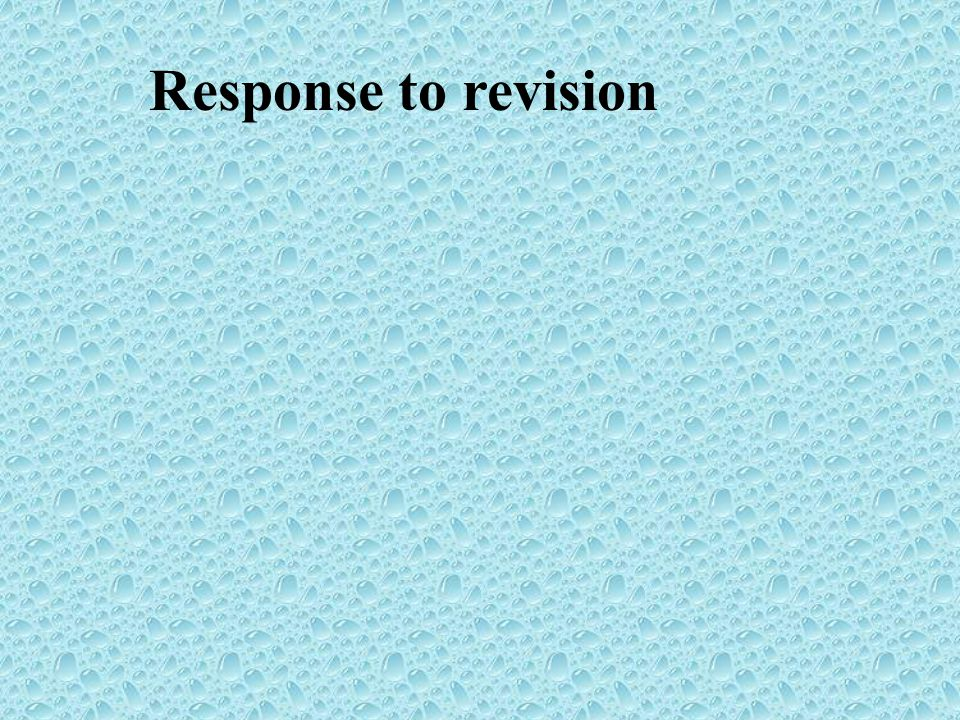 Response to revision