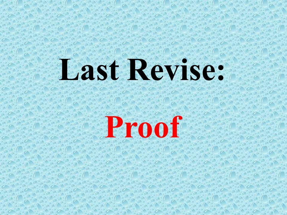 Last Revise: Proof