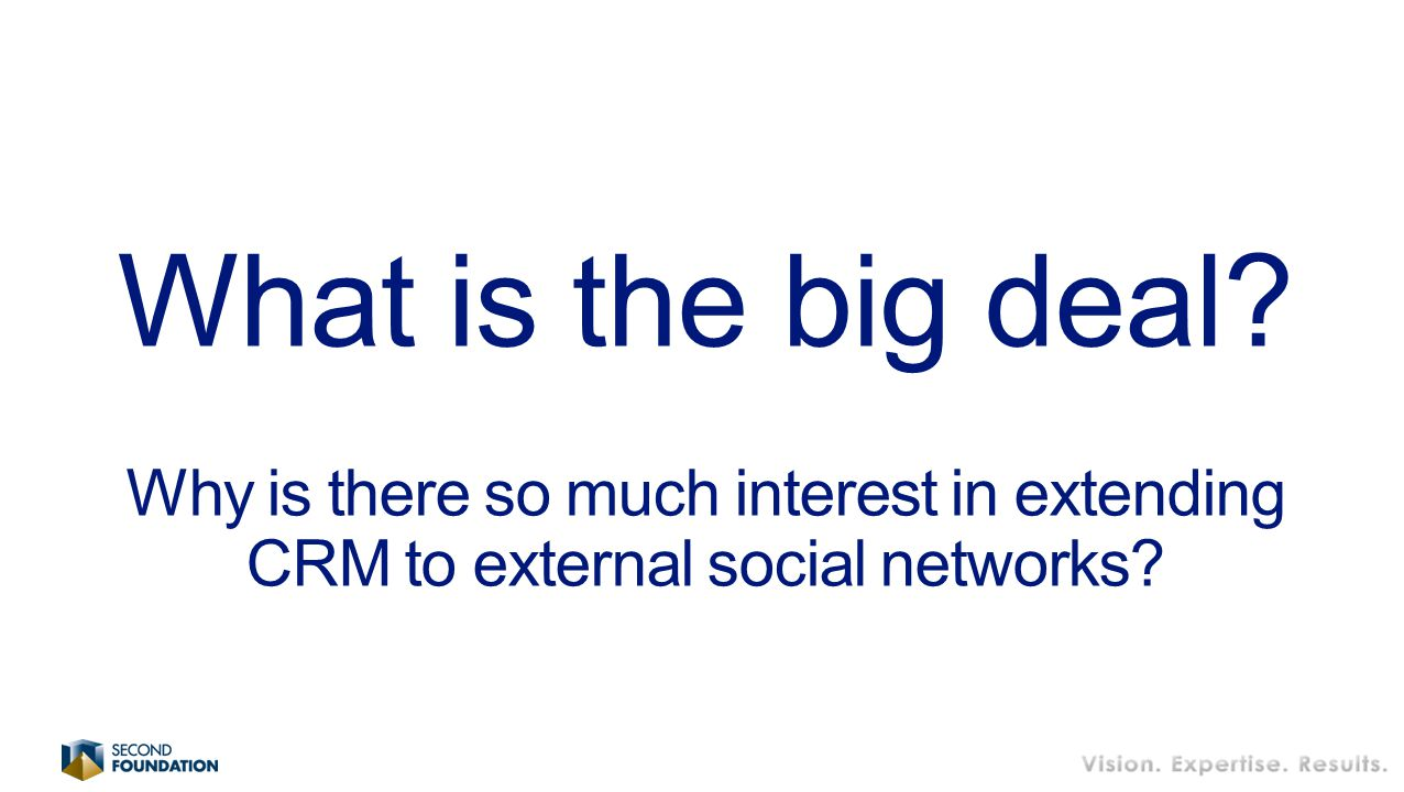 What is the big deal Why is there so much interest in extending CRM to external social networks