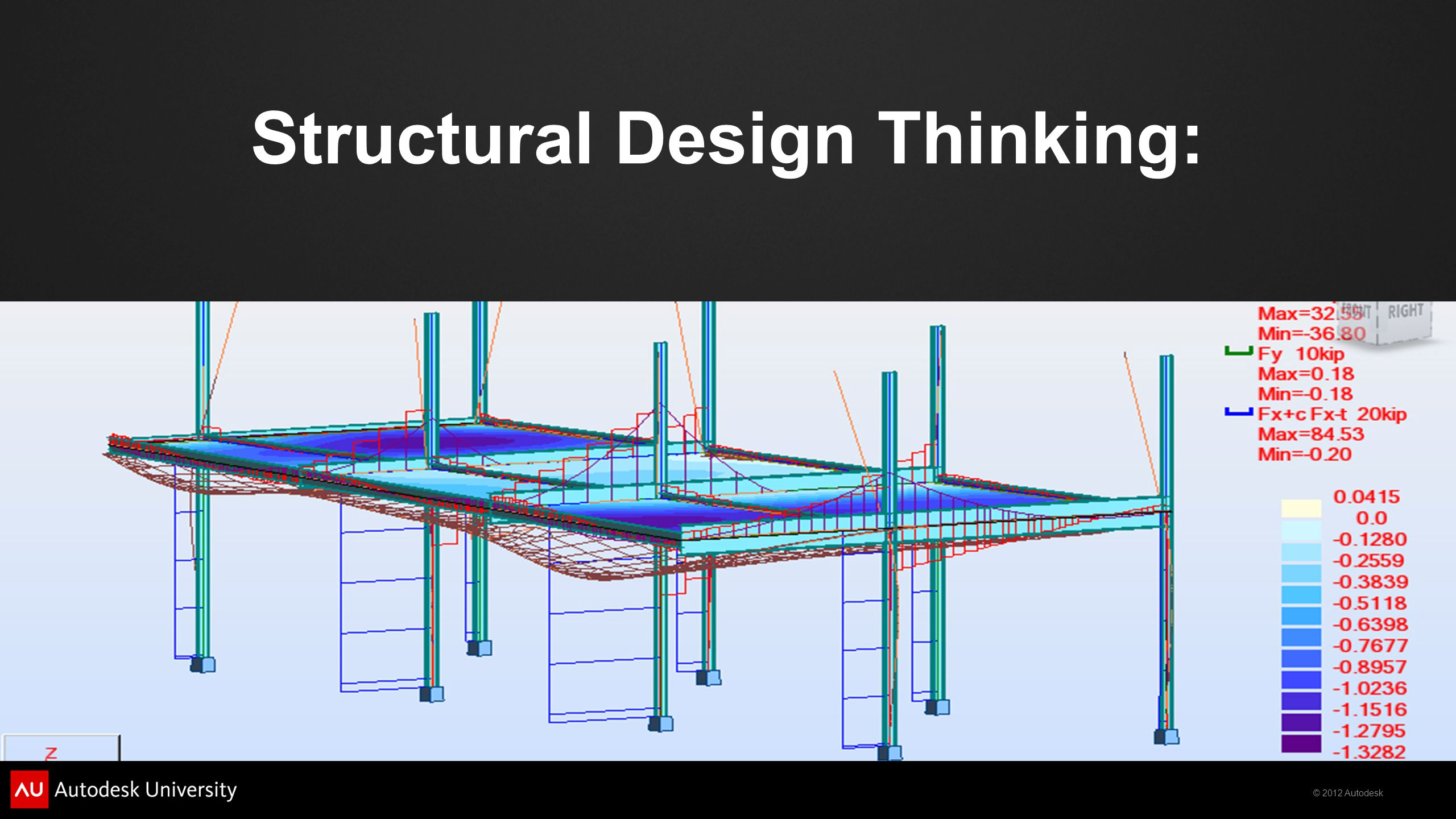 © 2012 Autodesk Structural Design Thinking:
