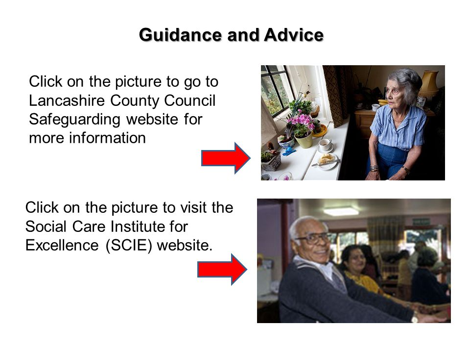 Click on the picture to go to Lancashire County Council Safeguarding website for more information Click on the picture to visit the Social Care Instit