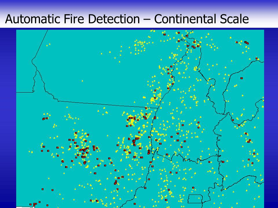 Automatic Fire Detection – Continental Scale