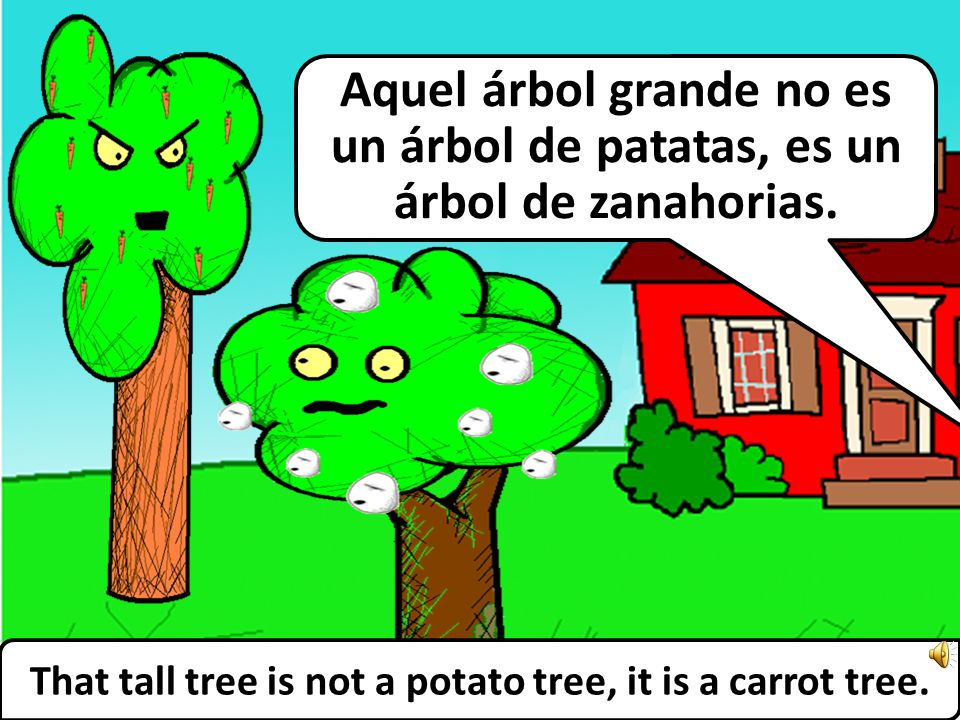 … And this is the short tree. … Y éste es el árbol pequeño.