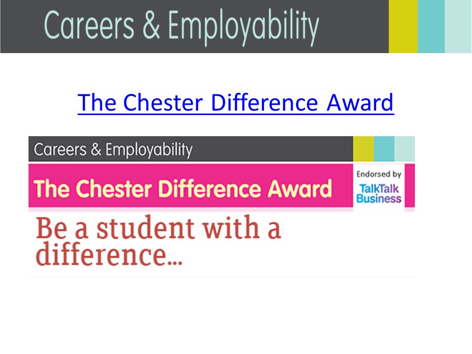 The Chester Difference Award