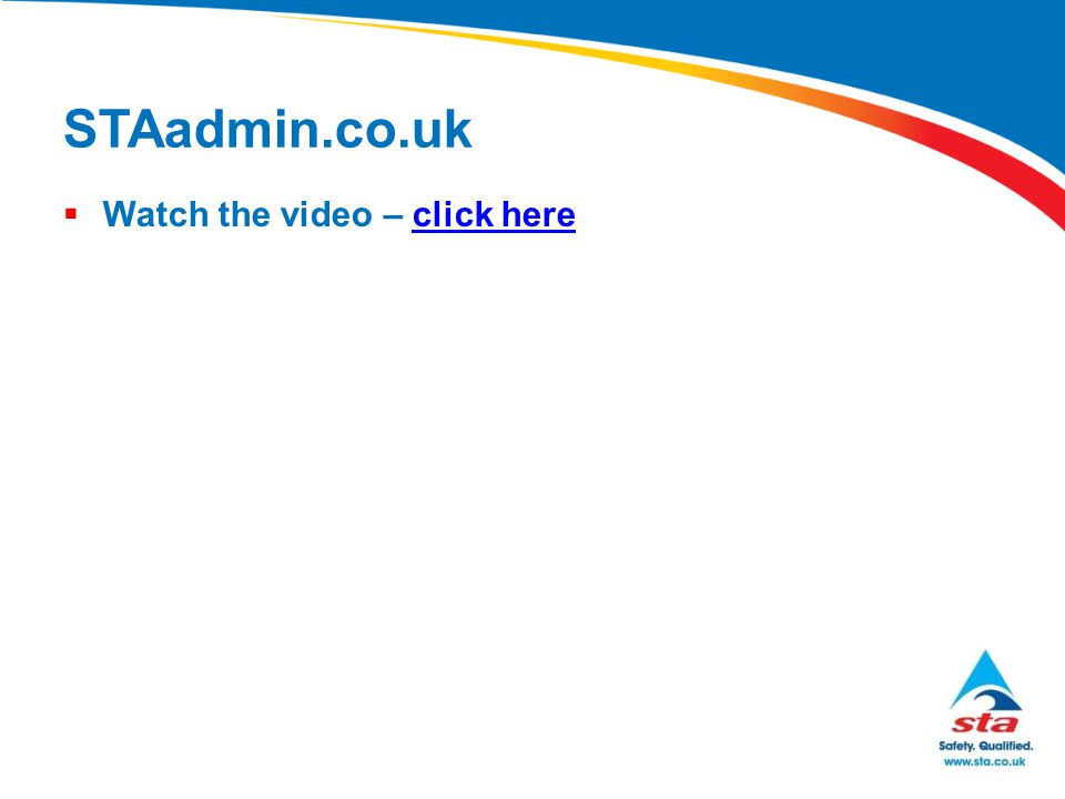 STAadmin.co.uk  Watch the video – click hereclick here