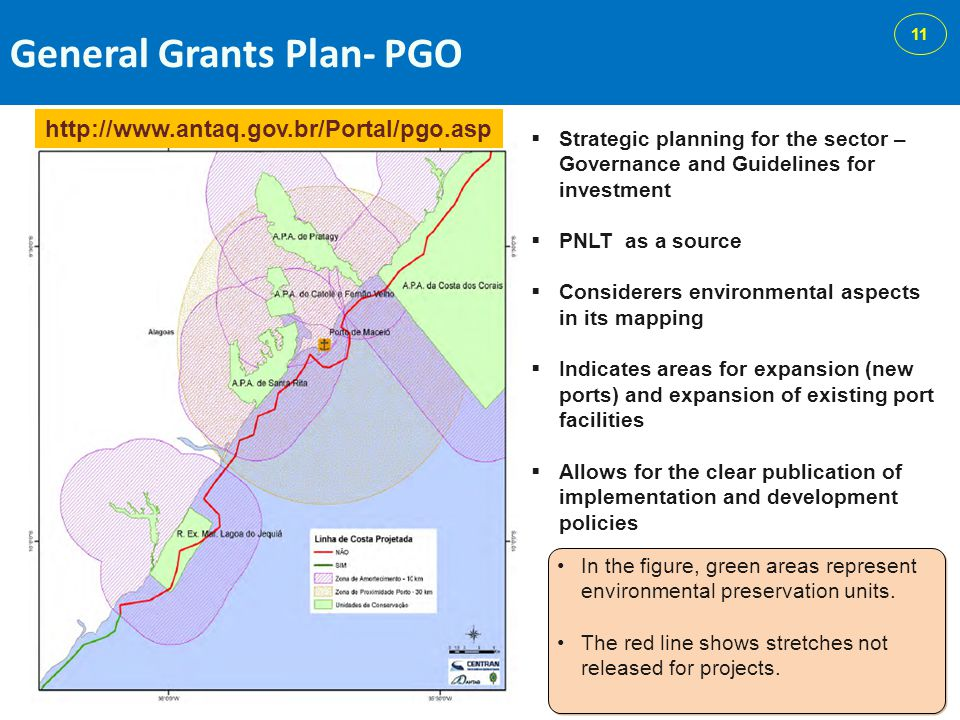 General Grants Plan- PGO In the figure, green areas represent environmental preservation units.