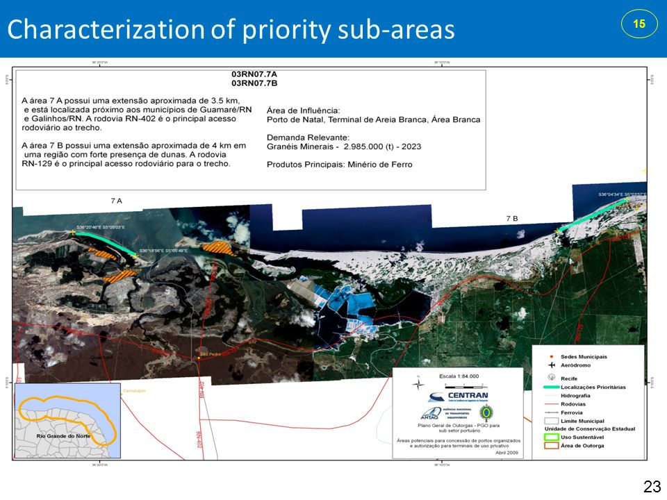 Characterization of priority sub-areas 23 15