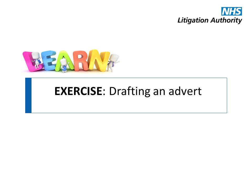 EXERCISE: Drafting an advert