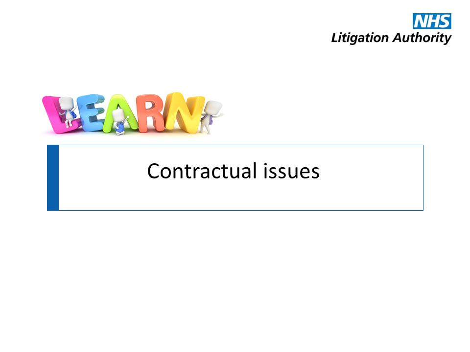 Contractual issues