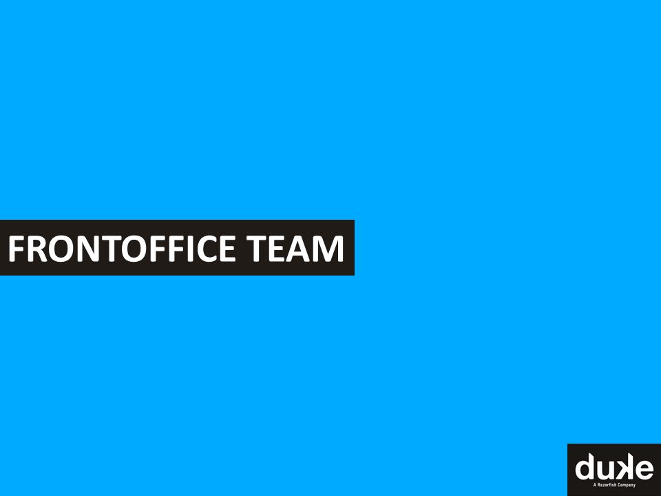 FRONTOFFICE TEAM