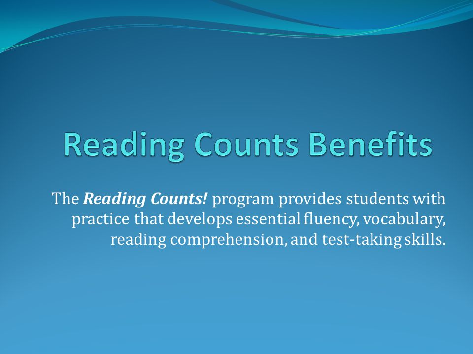 The Reading Counts.