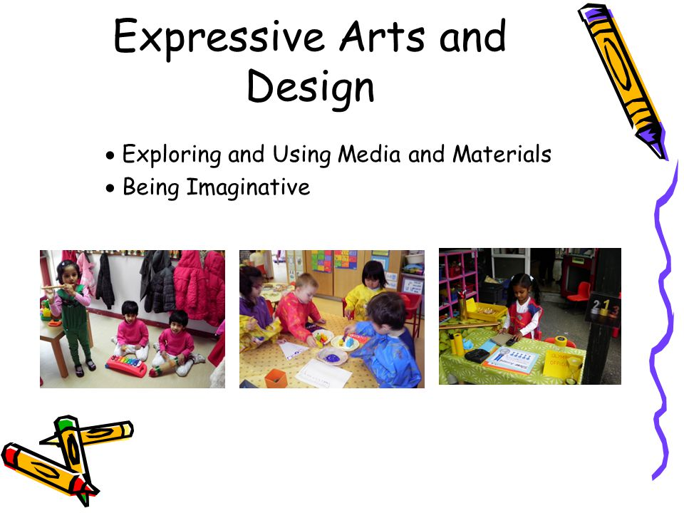 Expressive Arts and Design  Exploring and Using Media and Materials  Being Imaginative