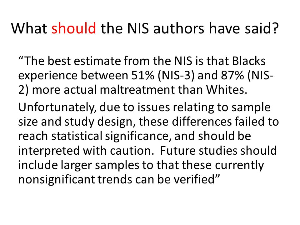 What should the NIS authors have said.