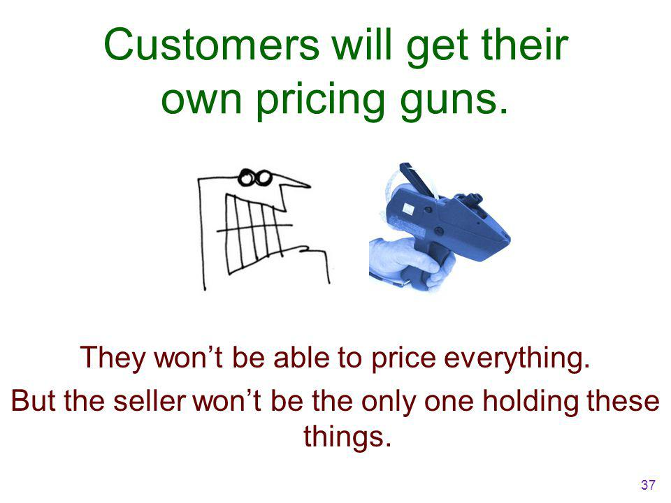 Customers will get their own pricing guns. They won't be able to price everything.