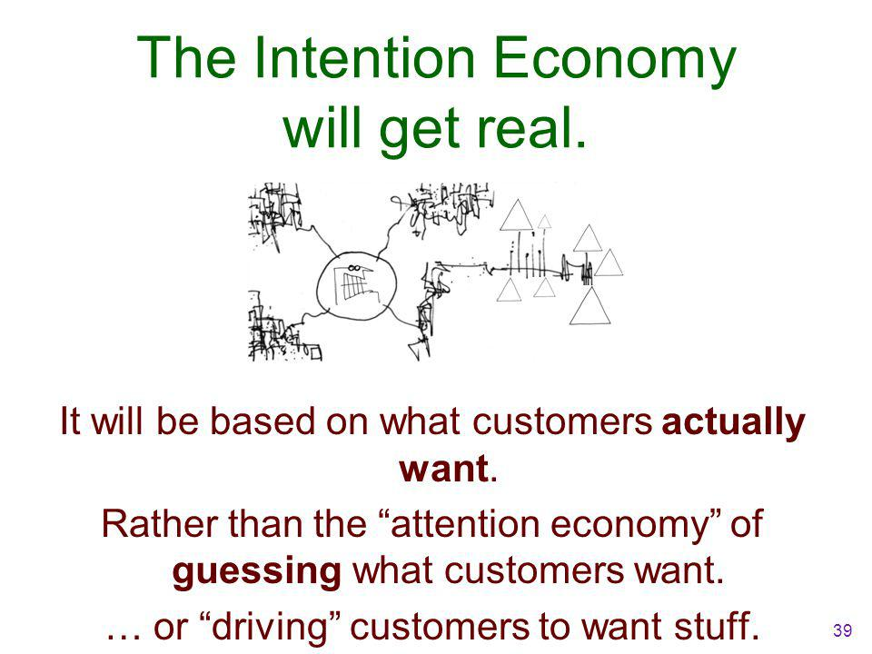 The Intention Economy will get real. It will be based on what customers actually want.