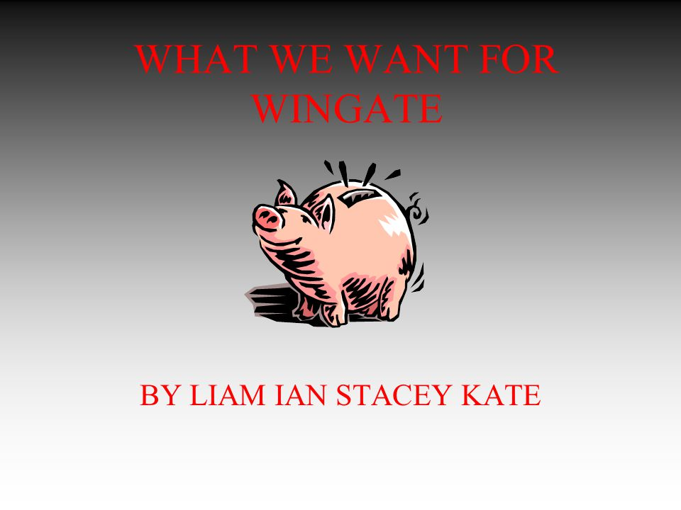 WHAT WE WANT FOR WINGATE BY LIAM IAN STACEY KATE