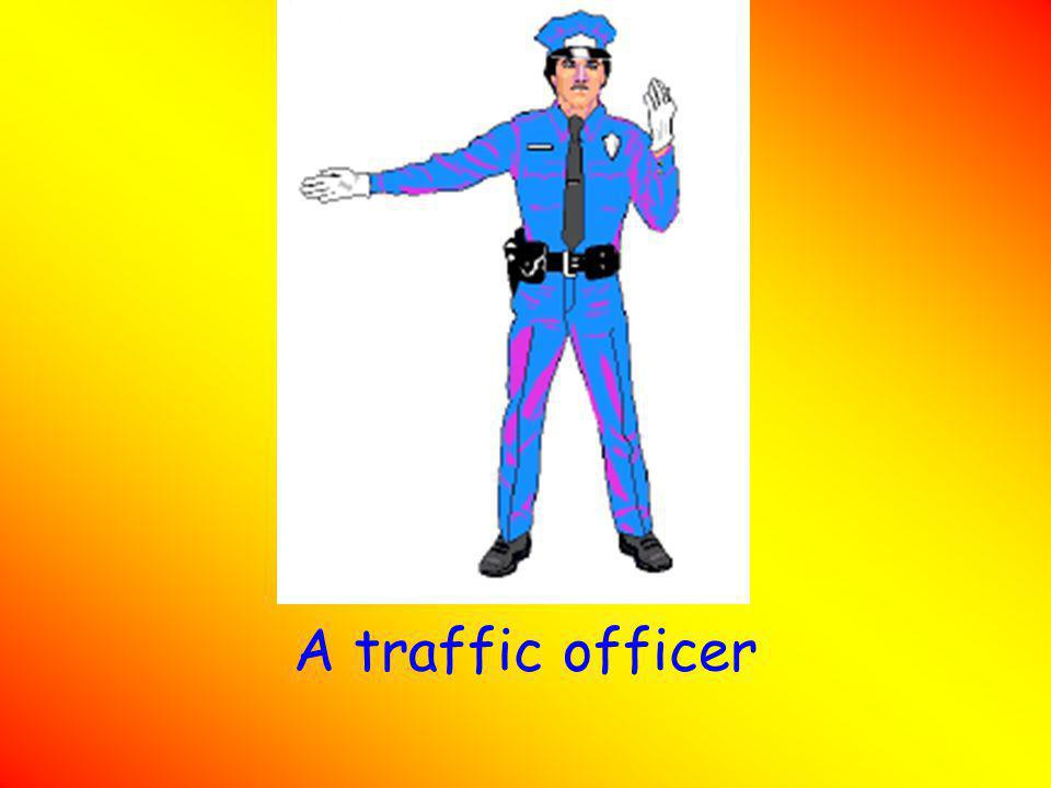 A traffic officer